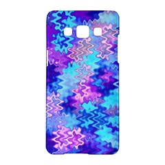 Blue and Purple Marble Waves Samsung Galaxy A5 Hardshell Case