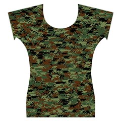 Kittyflage Women s Cap Sleeve Top