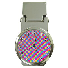 Crazy Yellow And Pink Pattern Money Clip Watches