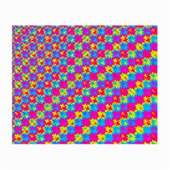 Crazy Yellow And Pink Pattern Small Glasses Cloth (2 Side)