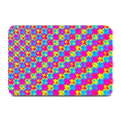 Crazy Yellow and Pink Pattern Plate Mats