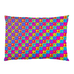 Crazy Yellow And Pink Pattern Pillow Cases