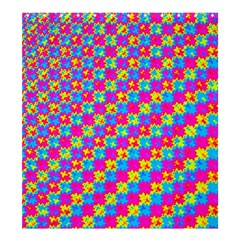 Crazy Yellow and Pink Pattern Shower Curtain 66  x 72  (Large)