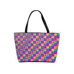 Crazy Yellow And Pink Pattern Shoulder Handbags