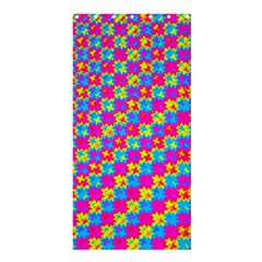 Crazy Yellow and Pink Pattern Shower Curtain 36  x 72  (Stall)