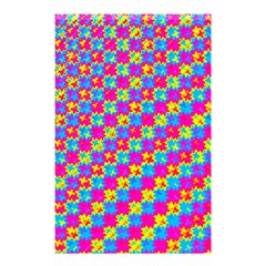 Crazy Yellow and Pink Pattern Shower Curtain 48  x 72  (Small)