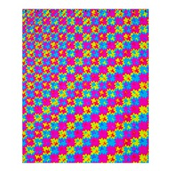 Crazy Yellow and Pink Pattern Shower Curtain 60  x 72  (Medium)