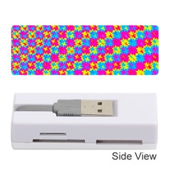 Crazy Yellow and Pink Pattern Memory Card Reader (Stick)
