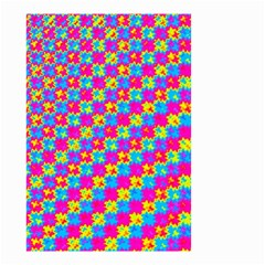 Crazy Yellow And Pink Pattern Small Garden Flag (two Sides)