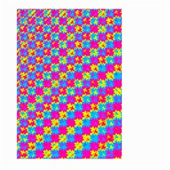 Crazy Yellow and Pink Pattern Large Garden Flag (Two Sides)