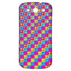 Crazy Yellow And Pink Pattern Samsung Galaxy S3 S Iii Classic Hardshell Back Case