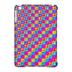 Crazy Yellow And Pink Pattern Apple Ipad Mini Hardshell Case (compatible With Smart Cover)