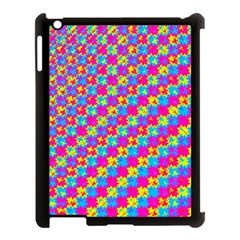 Crazy Yellow And Pink Pattern Apple Ipad 3/4 Case (black)