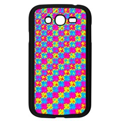 Crazy Yellow And Pink Pattern Samsung Galaxy Grand Duos I9082 Case (black)