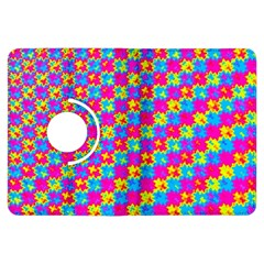 Crazy Yellow And Pink Pattern Kindle Fire Hdx Flip 360 Case