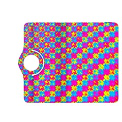 Crazy Yellow and Pink Pattern Kindle Fire HDX 8.9  Flip 360 Case