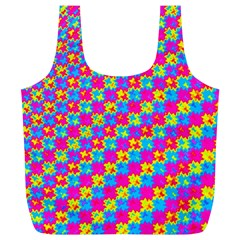 Crazy Yellow and Pink Pattern Full Print Recycle Bags (L)