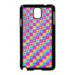 Crazy Yellow And Pink Pattern Samsung Galaxy Note 3 Neo Hardshell Case (black)