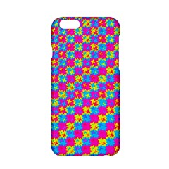 Crazy Yellow and Pink Pattern Apple iPhone 6 Hardshell Case