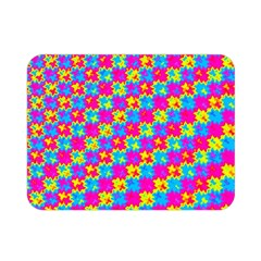 Crazy Yellow And Pink Pattern Double Sided Flano Blanket (mini)