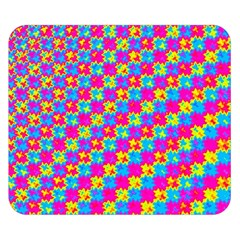 Crazy Yellow and Pink Pattern Double Sided Flano Blanket (Small)