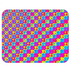 Crazy Yellow and Pink Pattern Double Sided Flano Blanket (Medium)