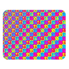 Crazy Yellow And Pink Pattern Double Sided Flano Blanket (large)