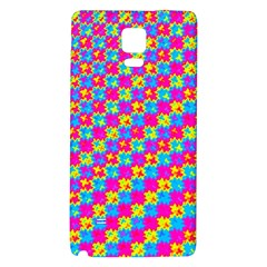 Crazy Yellow And Pink Pattern Galaxy Note 4 Back Case