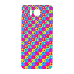 Crazy Yellow and Pink Pattern Samsung Galaxy Alpha Hardshell Back Case