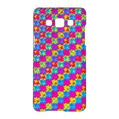 Crazy Yellow and Pink Pattern Samsung Galaxy A5 Hardshell Case