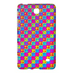 Crazy Yellow and Pink Pattern Samsung Galaxy Tab 4 (7 ) Hardshell Case