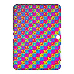 Crazy Yellow and Pink Pattern Samsung Galaxy Tab 4 (10.1 ) Hardshell Case