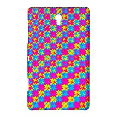 Crazy Yellow and Pink Pattern Samsung Galaxy Tab S (8.4 ) Hardshell Case