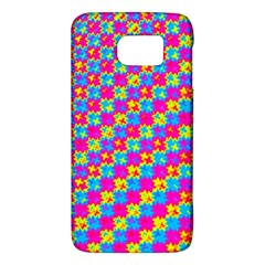 Crazy Yellow And Pink Pattern Galaxy S6