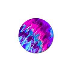 Stormy Pink Purple Teal Artwork Golf Ball Marker (4 Pack)