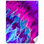 Stormy Pink Purple Teal Artwork Canvas 36  x 48   48 x36 Canvas - 1