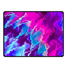 Stormy Pink Purple Teal Artwork Fleece Blanket (small)