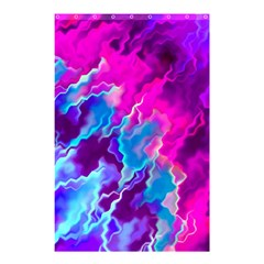 Stormy Pink Purple Teal Artwork Shower Curtain 48  x 72  (Small)