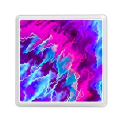 Stormy Pink Purple Teal Artwork Memory Card Reader (square)