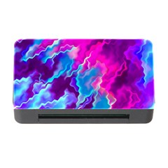 Stormy Pink Purple Teal Artwork Memory Card Reader With Cf