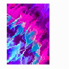 Stormy Pink Purple Teal Artwork Large Garden Flag (two Sides)