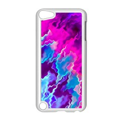 Stormy Pink Purple Teal Artwork Apple Ipod Touch 5 Case (white)