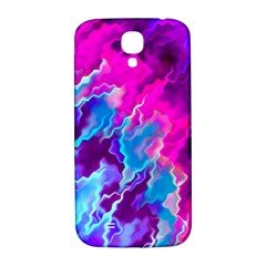 Stormy Pink Purple Teal Artwork Samsung Galaxy S4 I9500/i9505  Hardshell Back Case