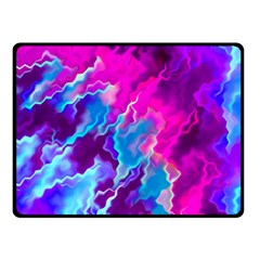 Stormy Pink Purple Teal Artwork Double Sided Fleece Blanket (Small)