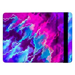 Stormy Pink Purple Teal Artwork Samsung Galaxy Tab Pro 12 2  Flip Case