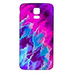 Stormy Pink Purple Teal Artwork Samsung Galaxy S5 Back Case (white)
