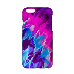 Stormy Pink Purple Teal Artwork Apple Iphone 6 Hardshell Case