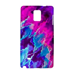 Stormy Pink Purple Teal Artwork Samsung Galaxy Note 4 Hardshell Case