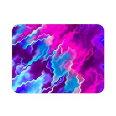 Stormy Pink Purple Teal Artwork Double Sided Flano Blanket (Mini)