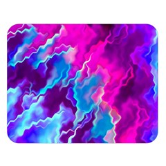 Stormy Pink Purple Teal Artwork Double Sided Flano Blanket (Large)
